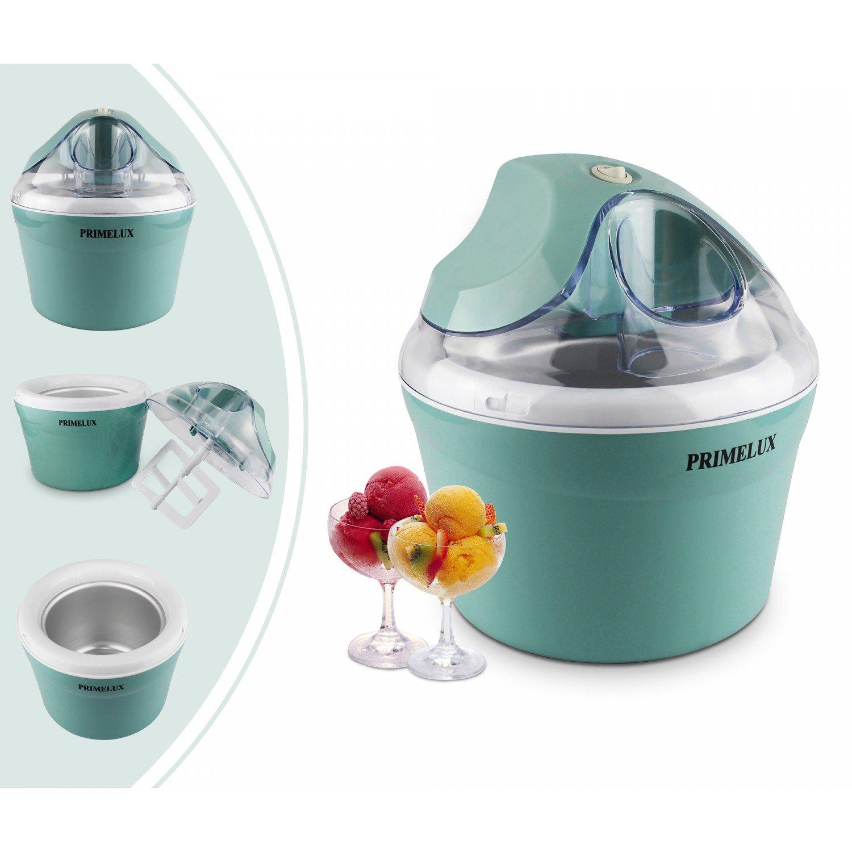 Primelux - Macchina Per Fare Yogurt Freddo, Gelataio, Blu, Potenza: 12 W, Dimensioni della ciotola: 20 x 20 x 13,5 cm