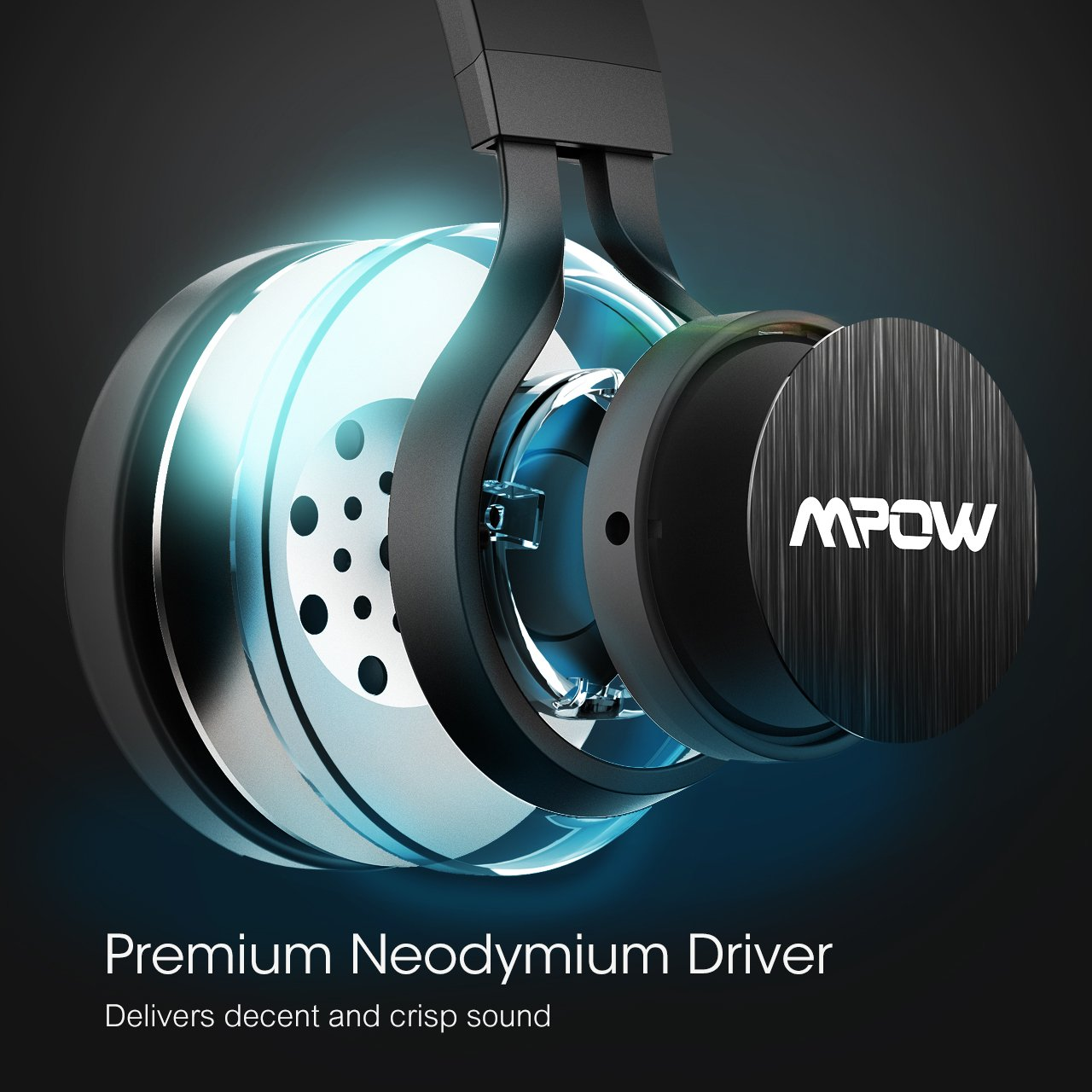 Mpow Thor Bluetooth Headphones Over Ear Wireless Headset Portable with Mic Cord Mode 120 Songs Playing Time for TV PC Cell Phone
