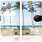 [iPhoneSE 5S 5 兼用 手帳型 ケース カバー] LOVEDES ハワイアン E