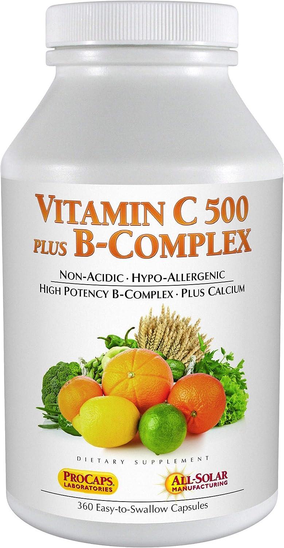 Andrew Lessman Vitamin C 500 Plus B-Complex, 360 Capsules