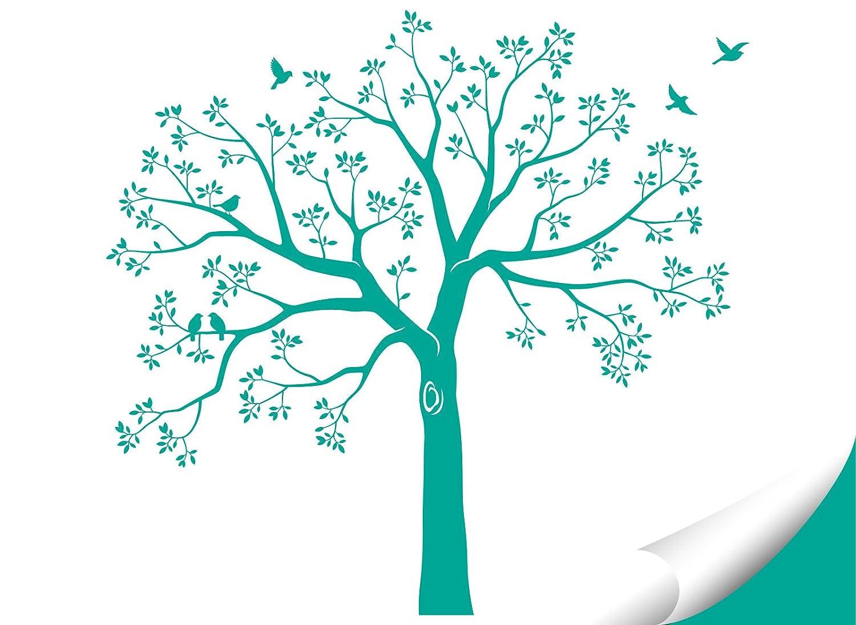 Grandora Wandtattoo XXL Baum Vögel Vögel Vögel I schwarz (BxH) 165 x 160 cm I Wohnzimmer Schlafzimmer Flur Sticker Aufkleber selbstklebend Wandsticker Wandaufkleber W5480 B0753DX2YS Wandtattoos & Wandbilder d99681