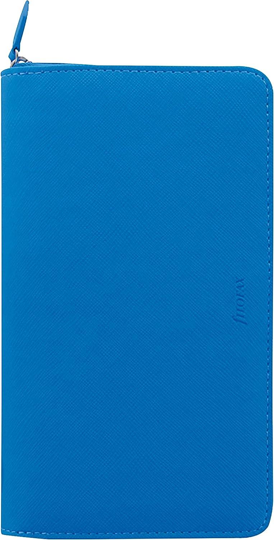 C028753-20 Saffiano Fluoro Blue 6.75 x 3.75 inches Filofax 2020 Personal Compact Zip Organizer