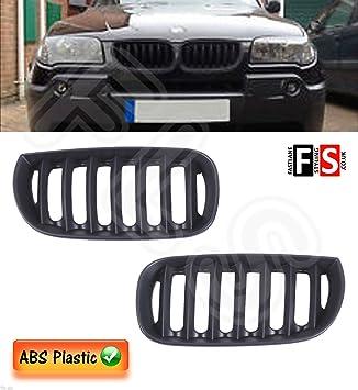 BMW X3 E83 2003 - 2006 rejilla frontal riñón - plástico ABS - negro mate: Amazon.es: Coche y moto