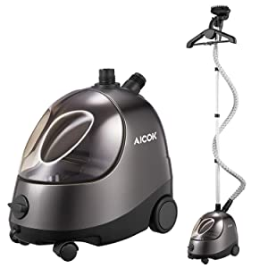 Clothes Steamer, AICOK Steamer for Clothes, 1500W, 68oz(2L), 60 Minutes Garment Steamer, Heavy Duty Full Size Fabric Steamer with Fabric Brush, Splint and Hanger