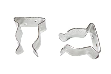 Gancho Acero Inoxidable Clips para fijación Buddy/tubo 25 mm ...