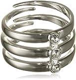 Pilgrim - Bague - Plaqué argent - Cristal - Taille réglable - 271446014
