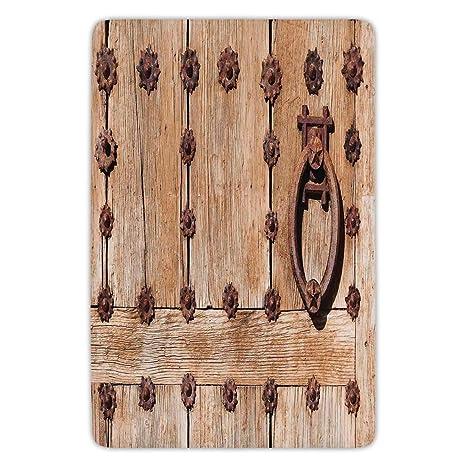 Amazon.com: Bathroom Bath Rug Kitchen Floor Mat Carpet, Rustic ...