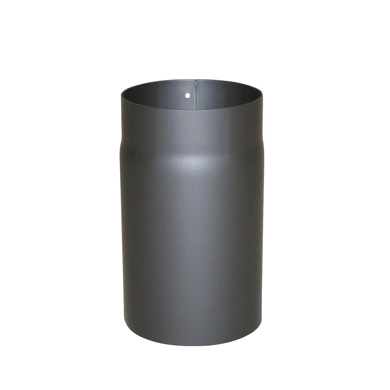 Kamino - Flam – Tubo para chimenea y estufa de leña, Conducto de humos – resistente a altas temperaturas, Antracita, Ø 150 mm/longitud 250 mm
