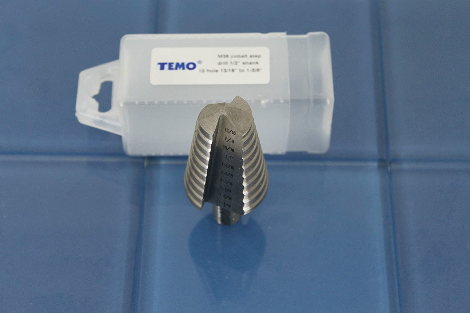 and 1-1//8 inch 28.6mm Two Size: 7//8 inch Hex Shank TEMO M35 Cobalt Step Drill Spiral Flute 22.2mm 1//4 inch 6.4mm