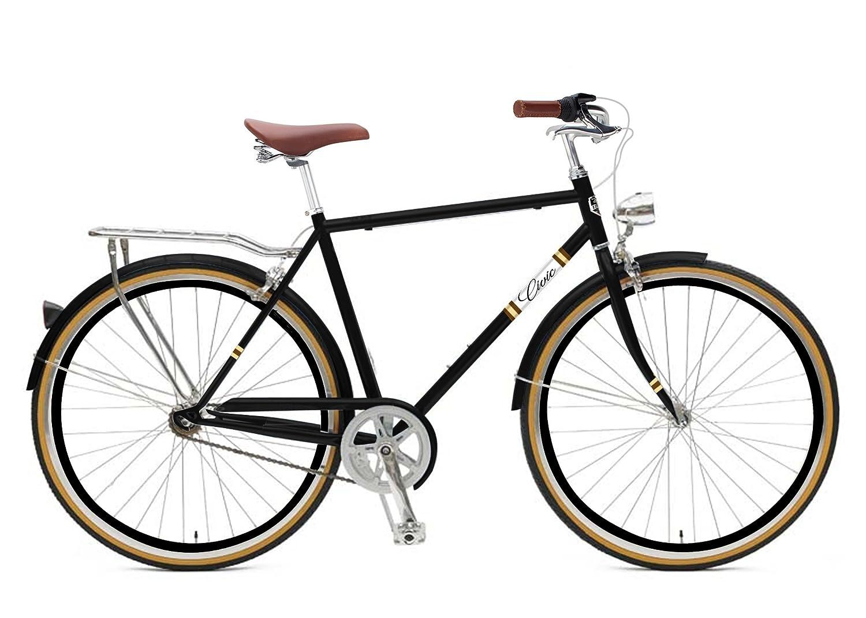 Zycle Fix 62 cmバイク7速度ギアメンズシビックシリーズ自転車 – ブラック銅 B01N5QEUGU
