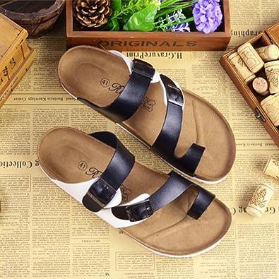 ZhuiKun Sandali Sughero - Unisex Adulto Pantofole Eleganti - Ciabatte Comodi   Amazon.it  Scarpe e borse c6670c4e69e