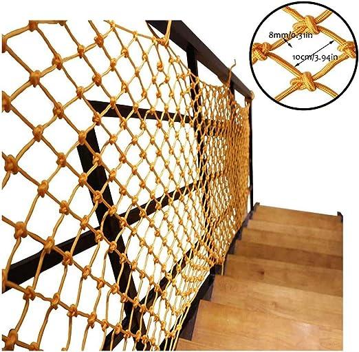 Red de Protección Válida para Múltiples Usos Ideal Red De Malla Protectora Red De Escalera De Seguridad For Niños Decoración Nettinng Rail Balcón Barandilla Escalera Jardín De Infantes Cuerda Tejida D: Amazon.es: