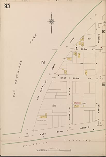 Amazon.com: Map Poster - Bronx, V. 14, Plate No. 93 [Map bounded by ...