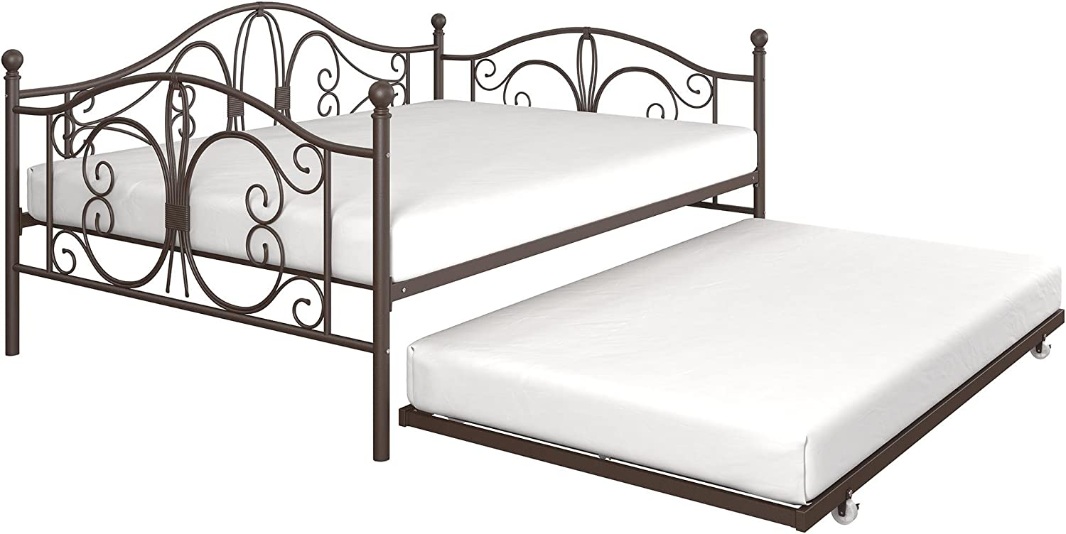 - Amazon.com: DHP Bombay Metal Full Size Daybed Frame With Included
