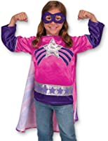 Melissa & Doug Super Heroine Role Play Costume Set (3 pcs) - Tunic, Cape, Mask