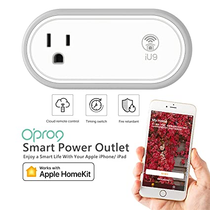 O'PRO9 iU9 Smart Power Outlet with WIFI - Works with Apple HomeKit – Turn  Appliances ON/OFF by Apple Siri voice control
