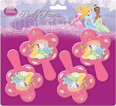 amscan Princesa Disney - Espejos, Pack de 4: Amazon.es: Hogar