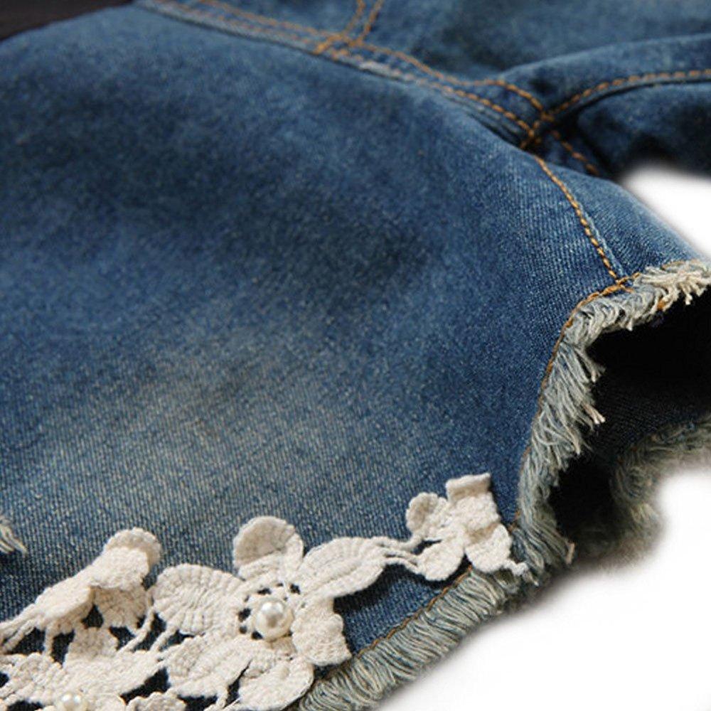 keephen Pantalones Cortos de los Pantalones Vaqueros de Maternidad Pantalones Cortos Ajustables del cord/ón de los Pantalones Vaqueros del Vientre de la atenci/ón de la Pretina Ajustable