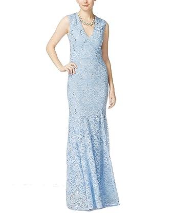 d9e97ed161 Amazon.com  B. Darlin Cornflower 3 4 Junior Lace Sequin Ball Gown ...