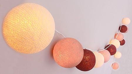 CREATIVECOTTON Cadena de luces LED Jardin de Rosas con 20 bolas ...