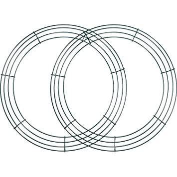 Amazoncom 2 Pack Wire Wreath Frame Wire Wreath Making Rings Green