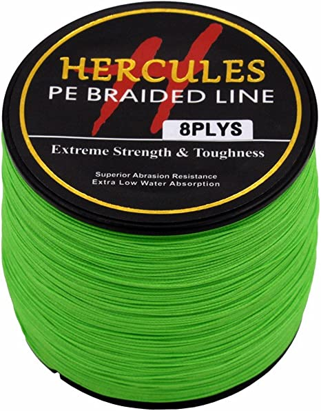 300M 6-100lb Hercules 4 Strands PE Braided Fishing Line Resistant Abrasion 328Yd