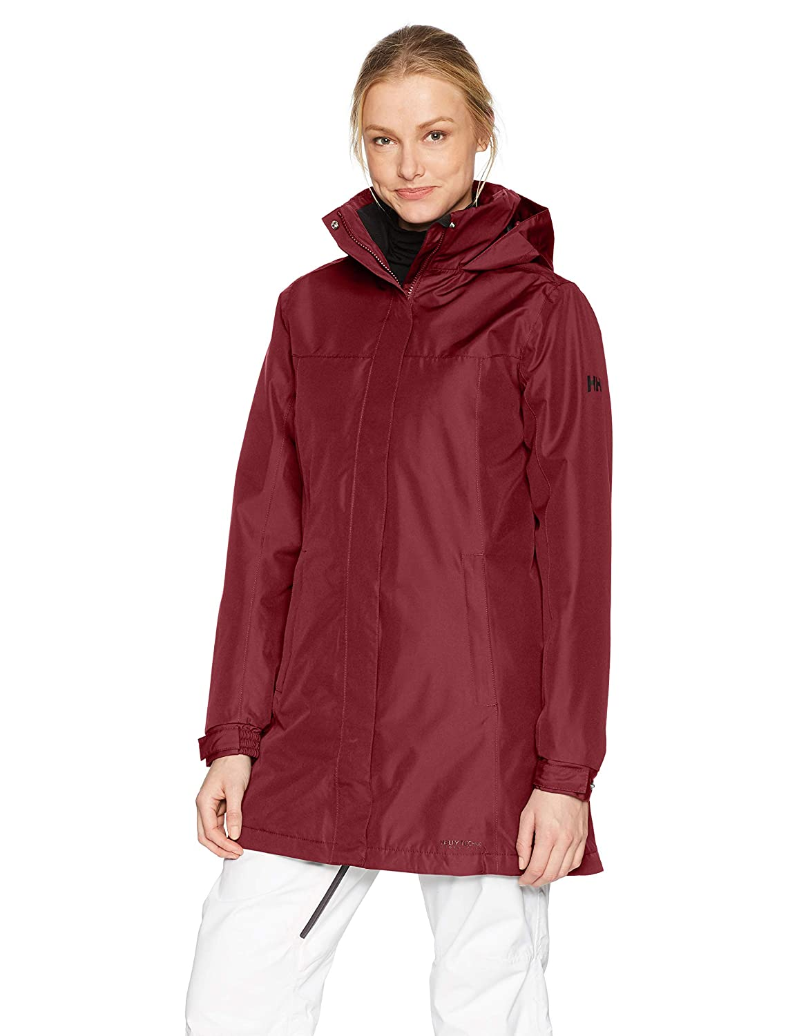 146 Cabernet Helly Hansen Women's Aden Long Insulated Rain Jacket