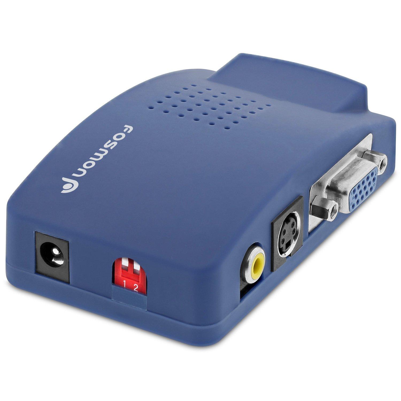 Fosmon VGA to RCA Adapter HD1882 PC to TV Video Converter