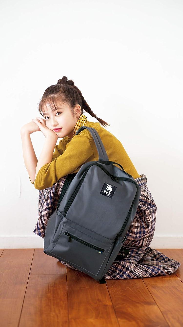 今田美桜 moz のバックパックを肩にかけしゃがむ iPhone8/7/6s/6(750×1334)壁紙画像