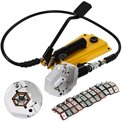 Mophorn Manually Operated Separable AC Hose Crimper Hydra-Krimp F7842F  Pedal Type Hydraulic Hose Crimper Kit Separable Air Conditioning Repair  with 6 ...
