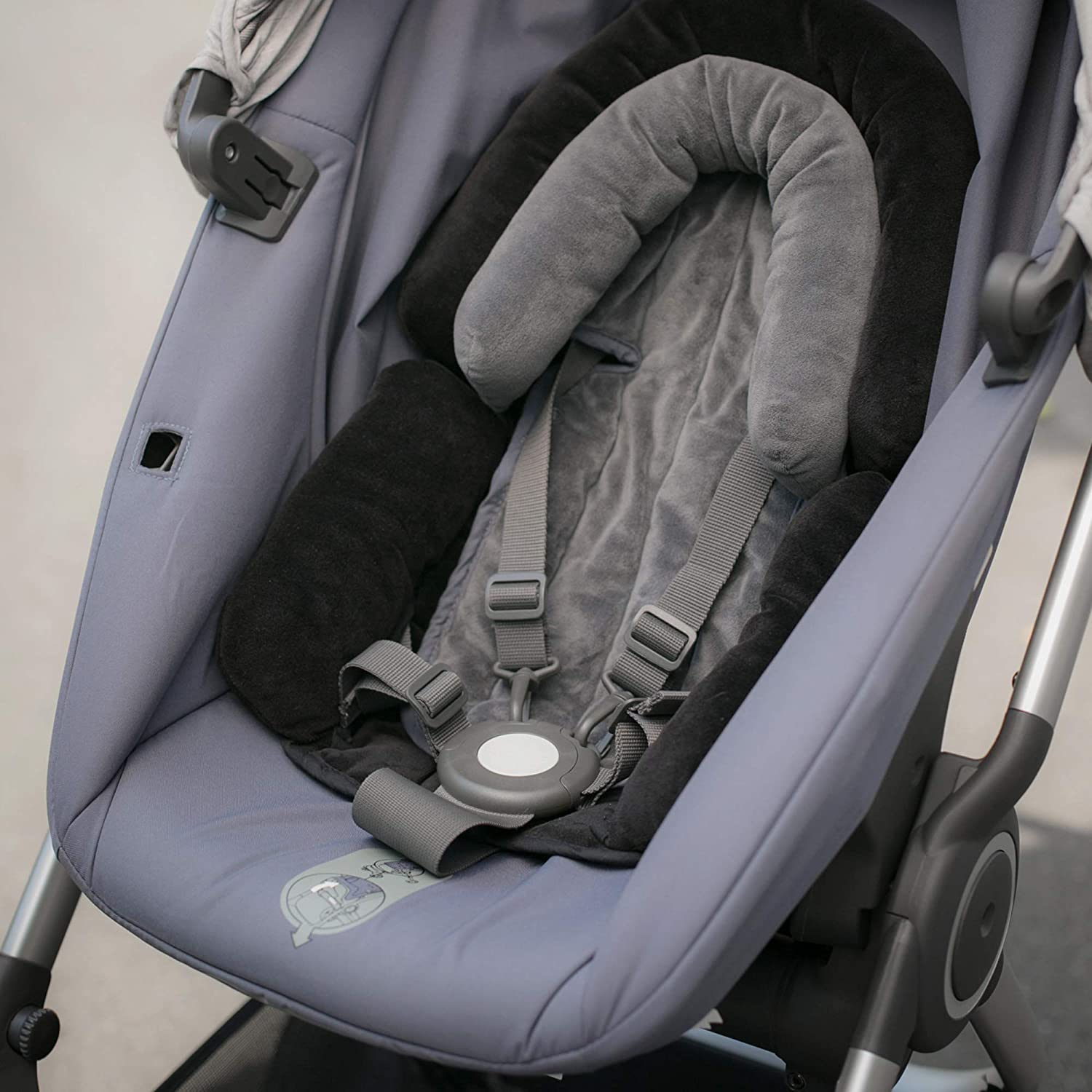 Newborn Boys Girls Car Seat Insert APRAMO 2 in 1 Baby Head /& Body Support Stroller Black Toddler Infant Cushioned Pad Liner for Car Seat