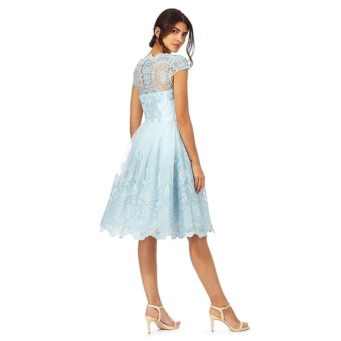 Chi Chi London Baroque Style Midi Party Prom Dress (S): Amazon.co.uk: Clothing