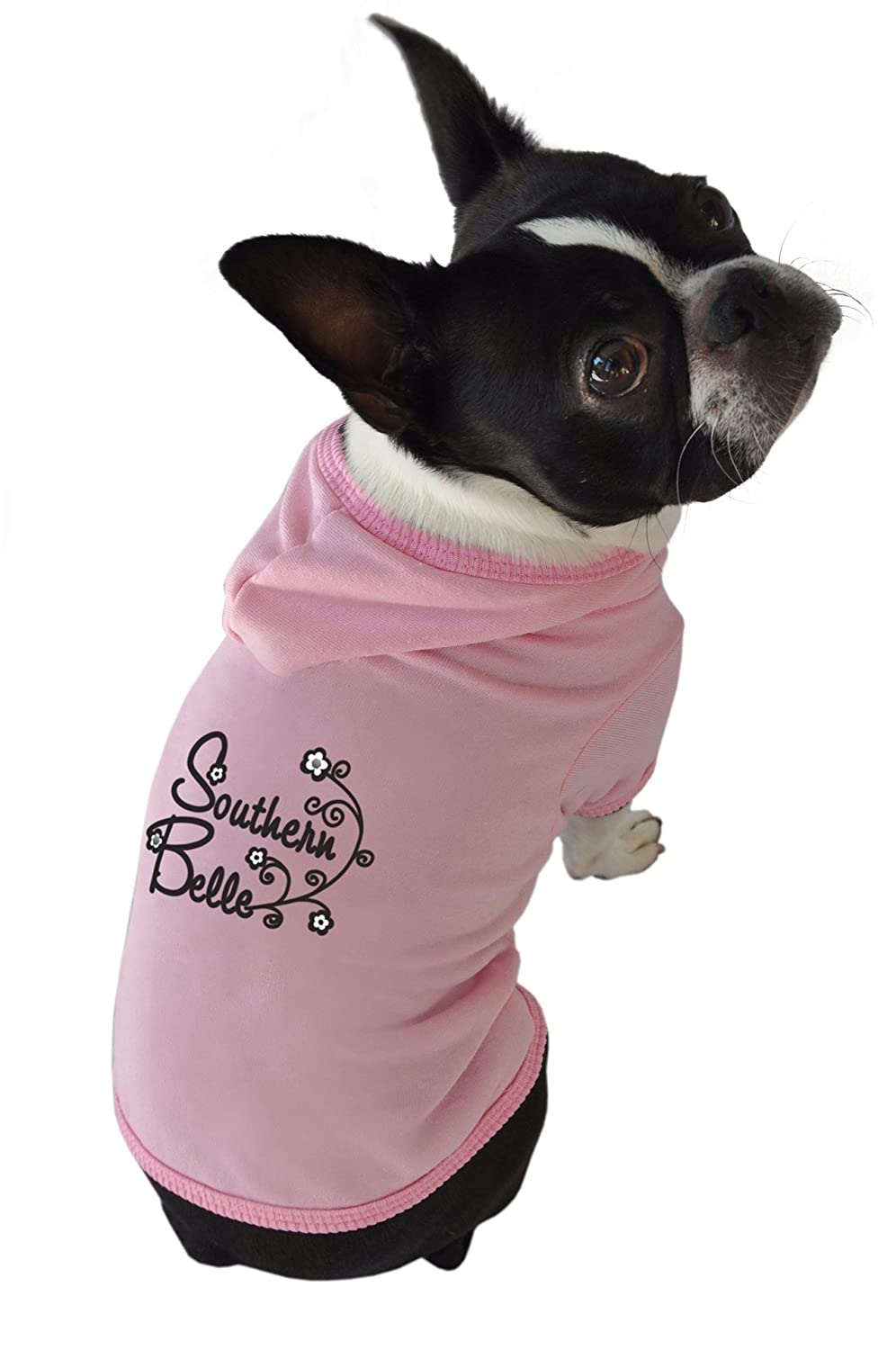 Ruff Ruff and Meow Dog Hoodie, Southern Belle, Pink, Extra-Small