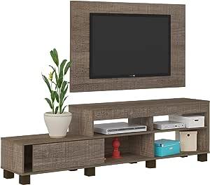 ارتلي طاولة تلفاز مع لوح خشبى لتلفاز حجم 42 بوصة ، بني ، مقاس 51.5 × 180 × 35.3 سم ، 003651