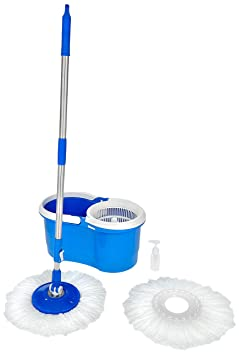 Amazon Brand - Solimo Spin Mop Set with Extra Mop Refill