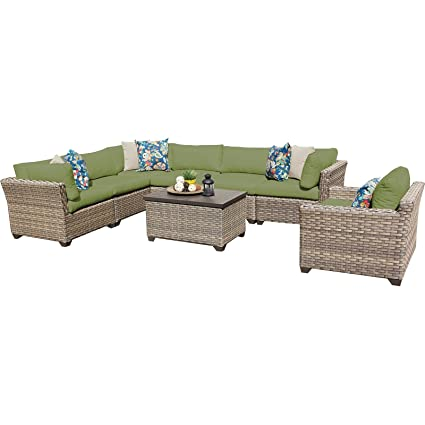 Amazon.com: TK Classics 8 piezas Monterey Muebles de mimbre ...
