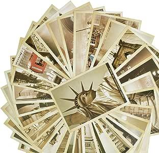 Rbenxia - Juego de 32 postales de viaje retro vintage con lugares ...