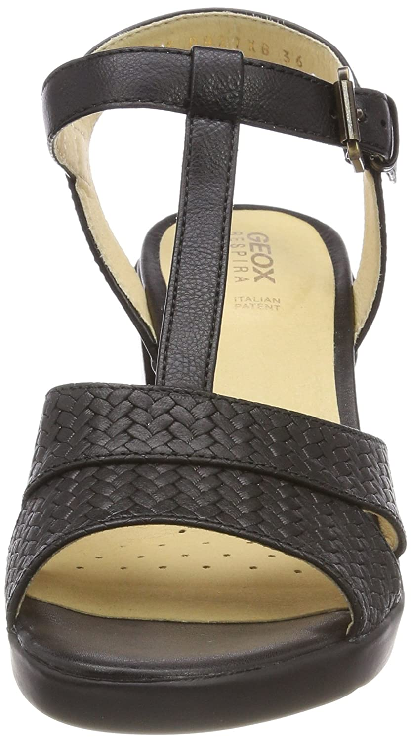 | Geox Woman Sandal with Medium Black Heels