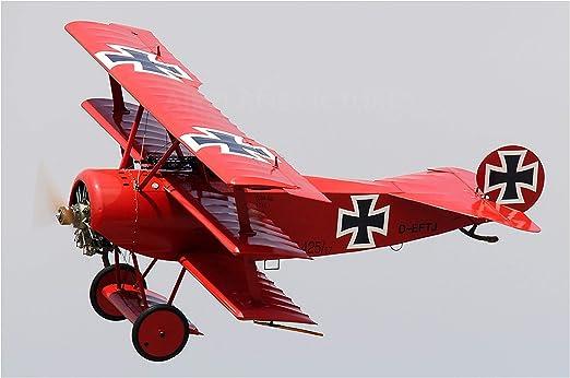 Engravia Digital Fokker Dr 1 Red Baron Ww1 German Fighter Flugzeug Reproduktion Poster
