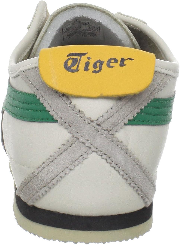 Onitsuka Tiger Unisex-Erwachsene Mexico 66 Vulc Su Sport und Lifestyle Schnürschuhe, 44,5 EU Birch/Green