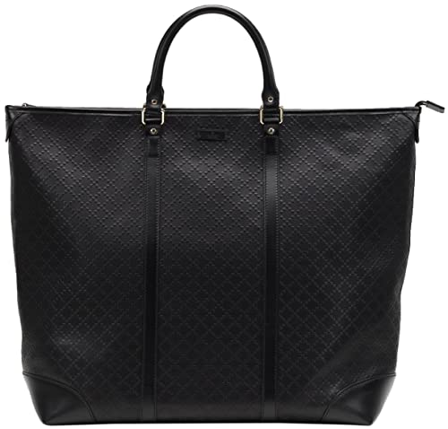 d751071806 Amazon.com: Gucci Black GG Diamante Leather Top Handle Large Tote ...