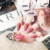 Uñas postizas, puntas de uñas postizas mate de moda Presione la cubierta completa de uñas postizas con pegamento 2g, decoraci
