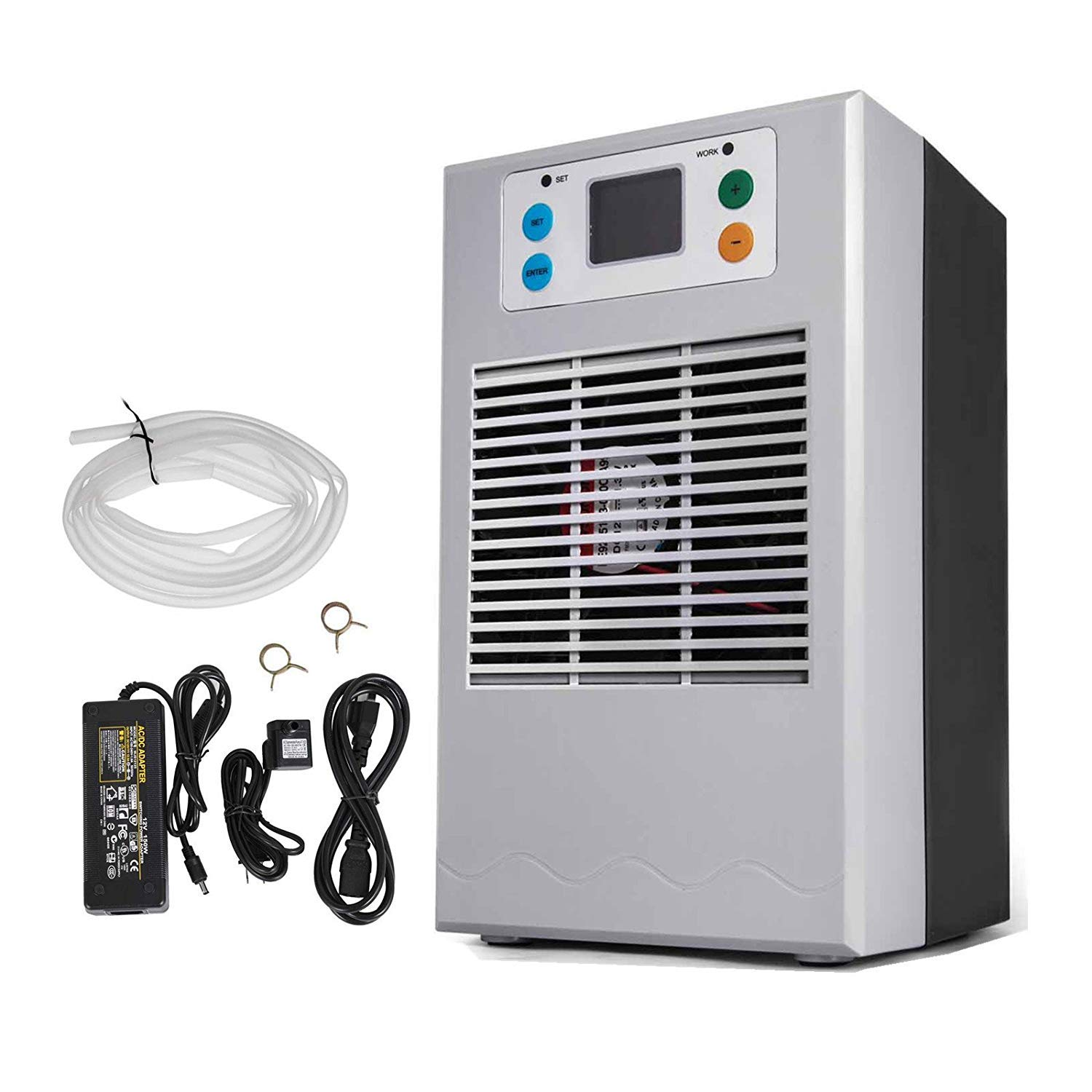 Mophorn 20L 70W Aquarium Water Chiller with Pump Kit Fish Tank Chiller Water Cooling Machine Shrimp Tank Water Cooler for Fresh Water Salt Water Plant Tank Hydroponic Chiller