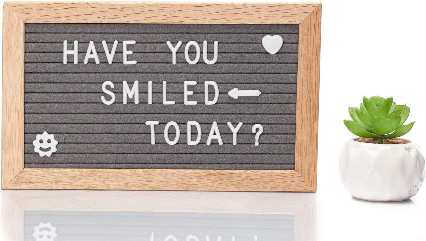 Includes Bag For Letters Home Decor Message Board For Wall /& Table One Stand /& Hook to Hang Felt Letter Board With 340 Precut White Letters Black Or Grey Felt