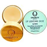 Omorfee 100% Organic Lip Lightening Balm, Lip balm for Dark Lips, Lip Balm with SPF, Natural Lip Protection, Lip Repair, Lip