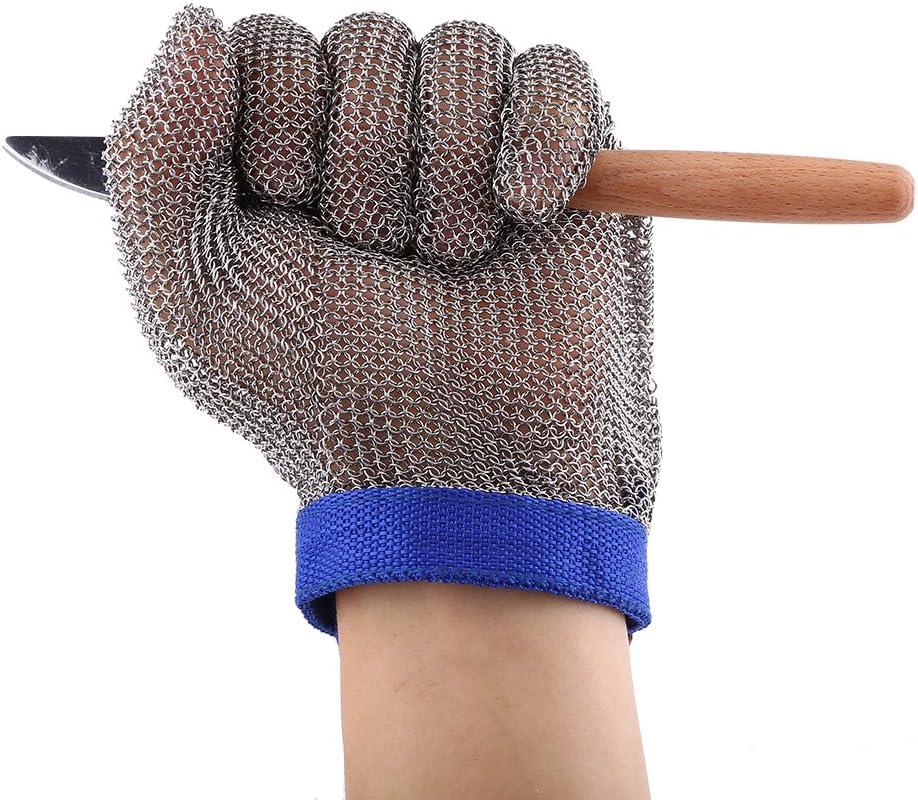 1pc de acero inoxidable 304 guante resistente a los cortes Guantes anti-corte guantes de carnicero para la protección de los guantes de seguridad/guantes de construcción, de gran tamaño