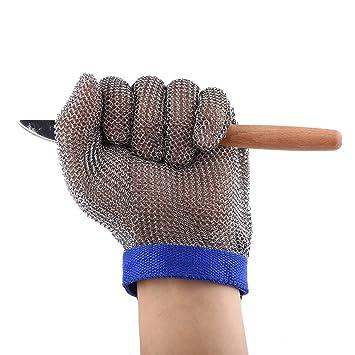 1pc de acero inoxidable 304 guante resistente a los cortes Guantes anti-corte guantes de carnicero para la protección de los guantes de ...