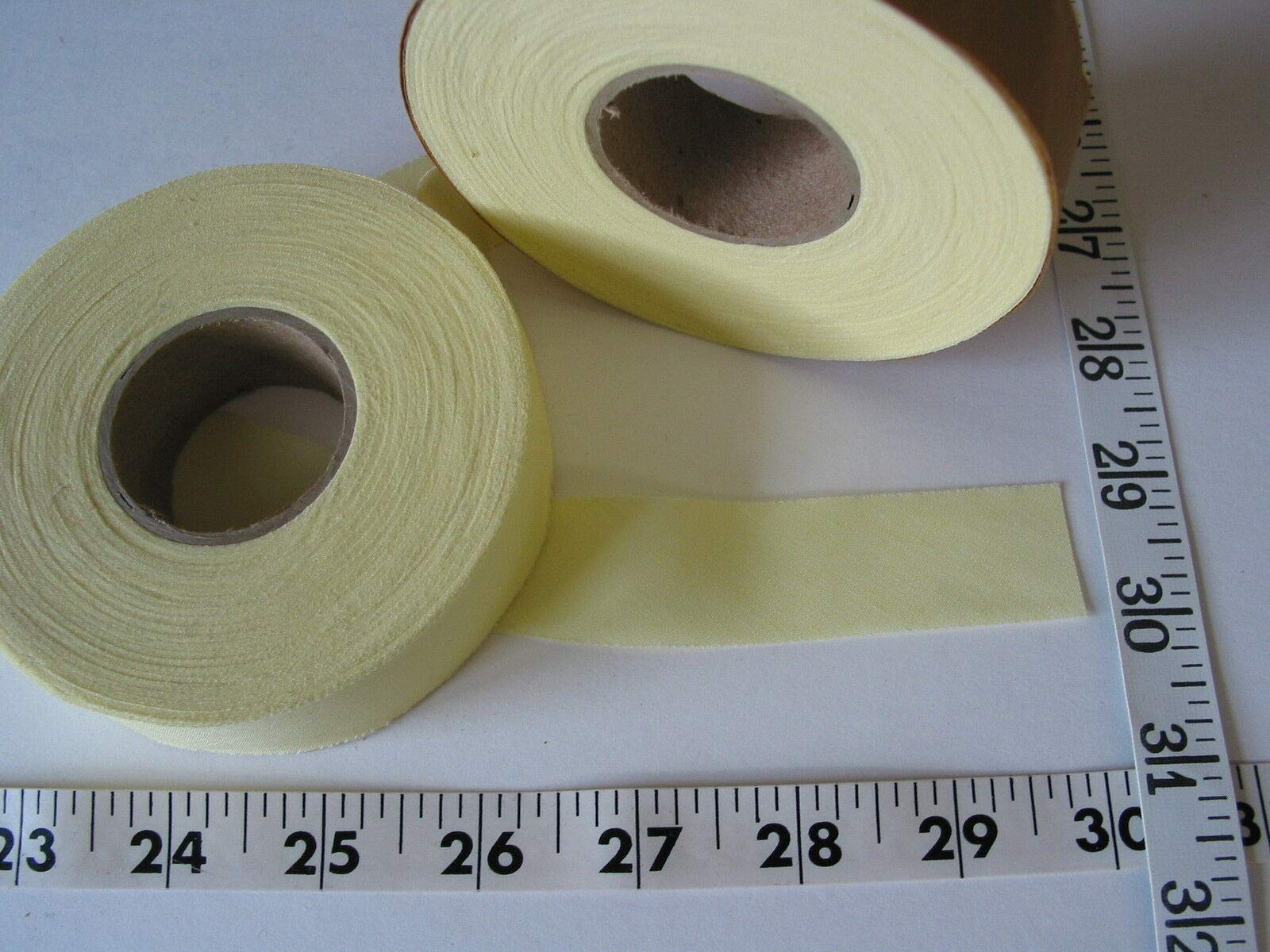 Sewing Craft DIY - Trim bias Binding Unfolded Yellow 1 w 2 Rolls - Trims Variety of Colors, Styles and Materials by B07Q58KFW1