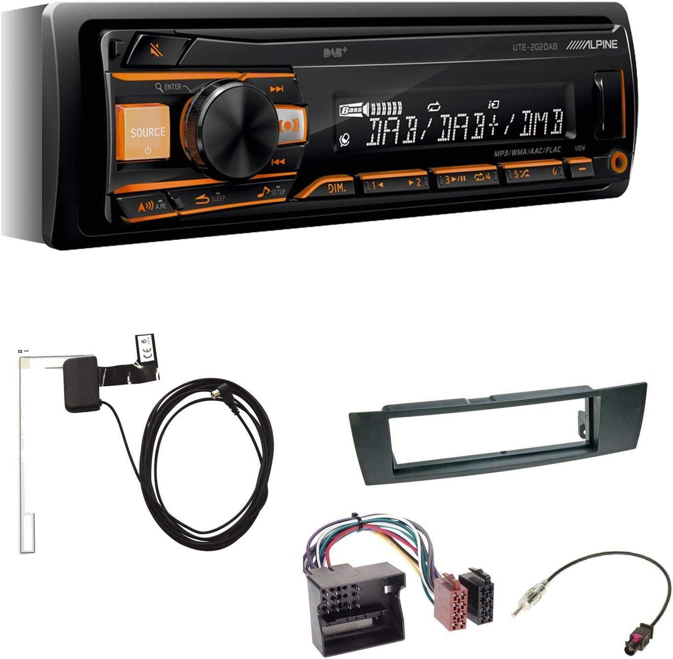 Alpine UTE-202DAB 1-DIN - Radio de Coche con Antena Dab+ USB ...