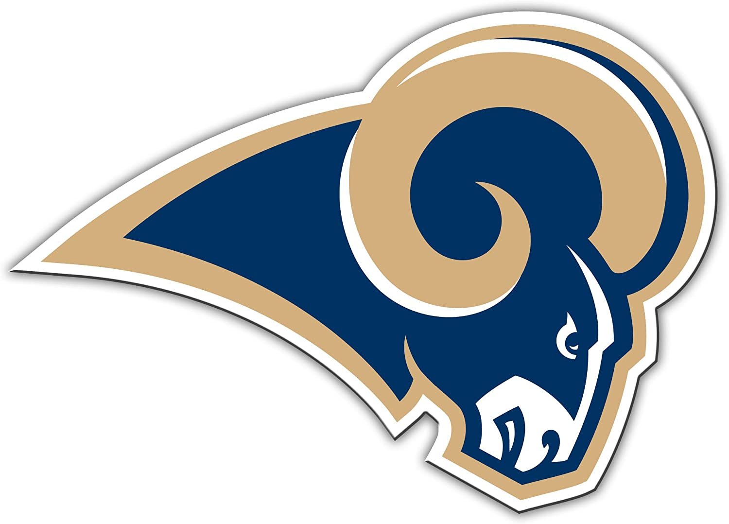 amazon com nfl los angeles rams 12 inch vinyl logo magnet sports outdoors nfl los angeles rams 12 inch vinyl logo magnet